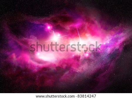A glorious, rich star forming  nebula. - stock photo