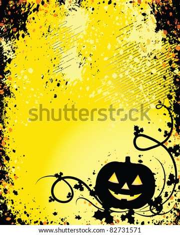 A Glowing Background for Halloween - perfect for a card or invitation!