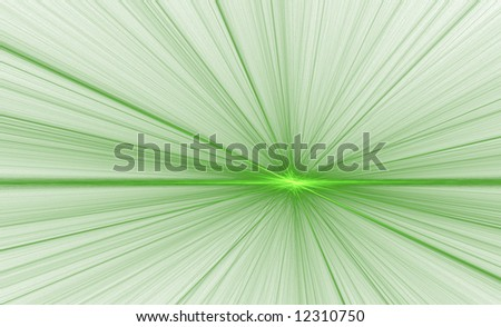 A glowing fractal background that seems to explode from a spot on the horizon. - stock photo