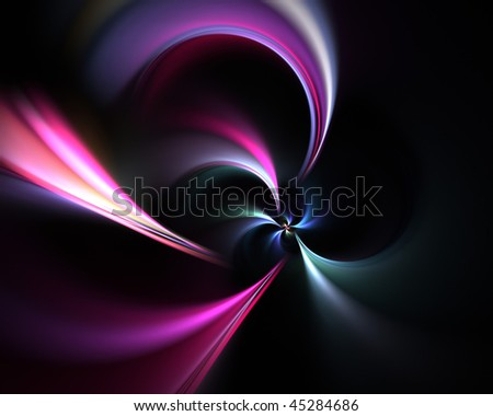 A glowing fractal vortex that works great as a background or backdrop. - stock photo