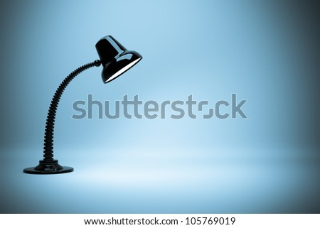 a glowing lamps background - stock photo