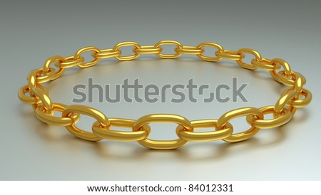 a golden chain background - stock photo