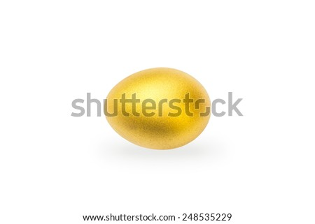 A golden egg: A golden egg opportunity - stock photo