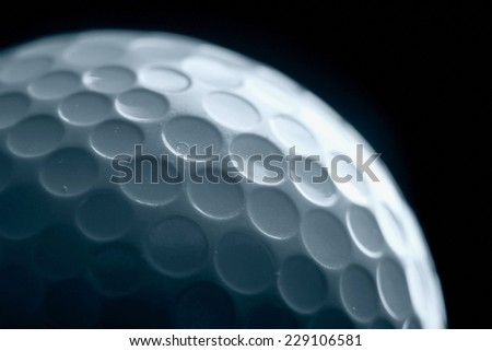 A golf ball - stock photo