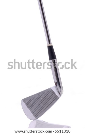 A golf club against a white background. - stock photo