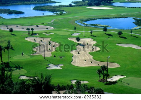 A golf course resort in the United States of America