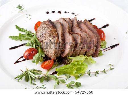 A gourmet fillet  steak - stock photo