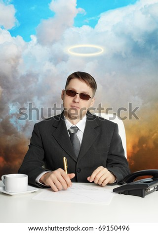 A government official in the service - almost a god - stock photo