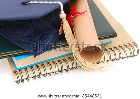 A graduating successful degree in college - stock photo