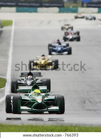 A1 Grand Prix motorsport racing. - stock photo