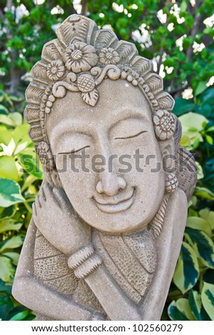 A granite statue - stock photo