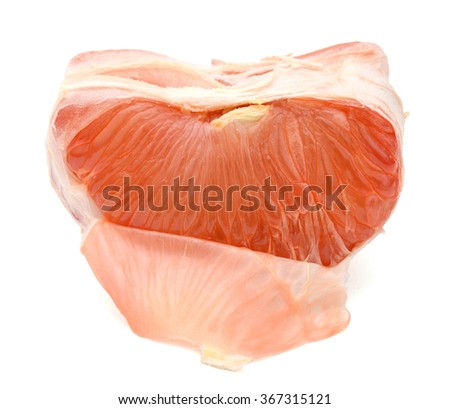 A grapefruit peel isolated white