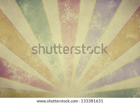 a graphic of abstract vintage retro paper circus style background - stock photo