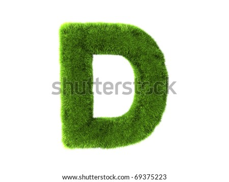 A grass d isolated on a white background