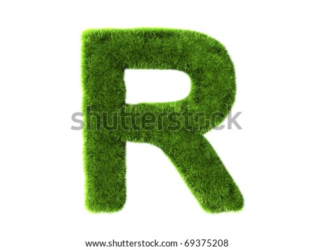 A grass r isolated on a white background