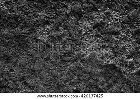 a  gray background of old  peeling wall - stock photo