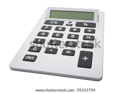 A great big calculator isolated with clipping path. - stock photo