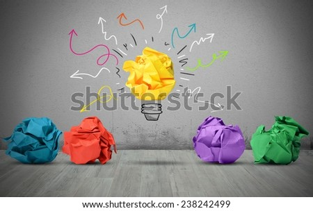 A great idea can make the difference - stock photo