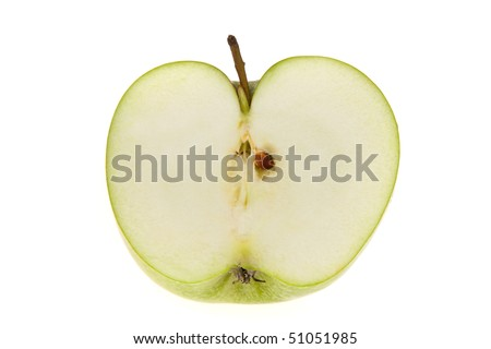 A green apple. Fruit for vitamins.