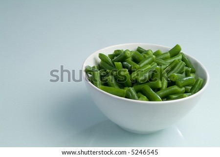A green beans plate - stock photo