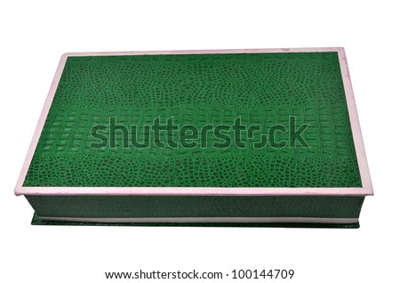a green box on Isolate - stock photo