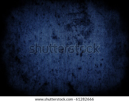 A green dotted metal plate with black rust - stock photo