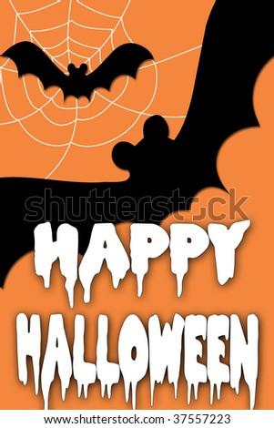 Greeting card saying happy halloween stock illustration 37557223 a greeting card saying happy halloween m4hsunfo