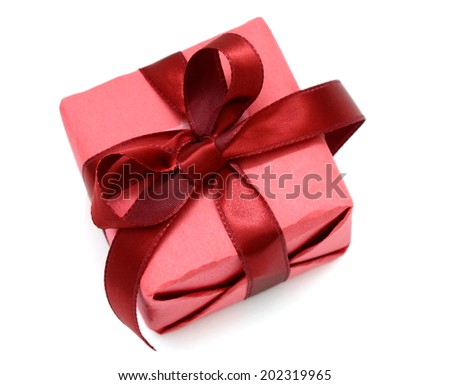 A greeting wrapping gift box