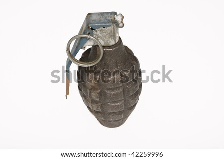 A grenade isolated on white.