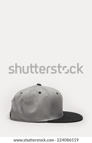 A grey cap side view isolated white background. - stock photo