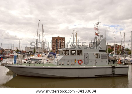 A Grey Navy Training Ship