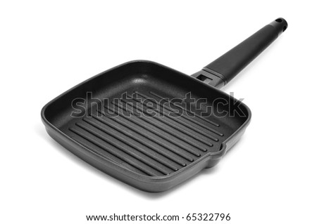a grill pan isolated on a white background - stock photo