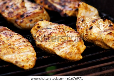 a grilled chicken breasts - stock photo