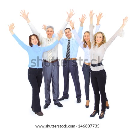A group of business people - stock photo