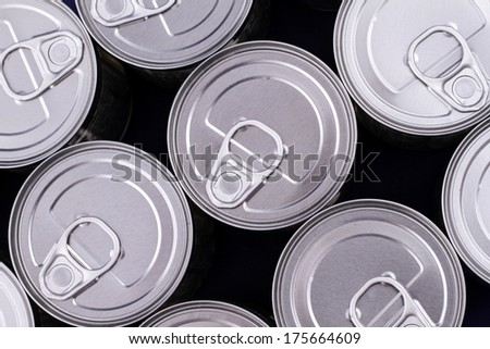 A group of cans background  - stock photo