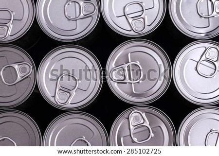 A group of cans background