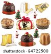 a group of Christmas cake - stock photo