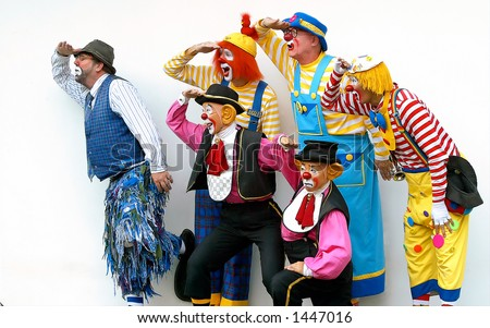 A group of clown - stock photo