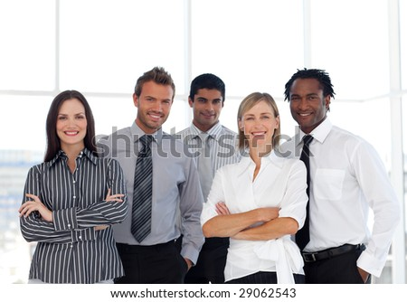 A group of Confident and happy business people - stock photo