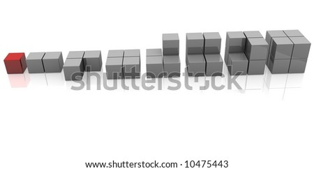 A group of cubes