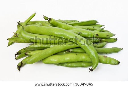 A group of fava on white isolated background - stock photo