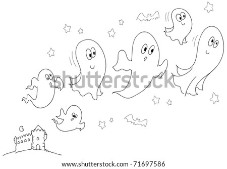 Ghost1 also Skull 10573 also Haunting designs additionally Stock Vector Quirky Ink Drawing Of An Old Haunted House additionally Haunted House Tattoo Idea S. on happy halloween creepy house