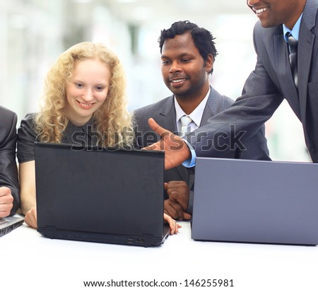 A group of international businessmen. - stock photo