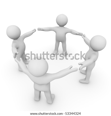 A group of people connecting. - stock photo