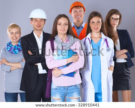 A group of people of different professions. - stock photo