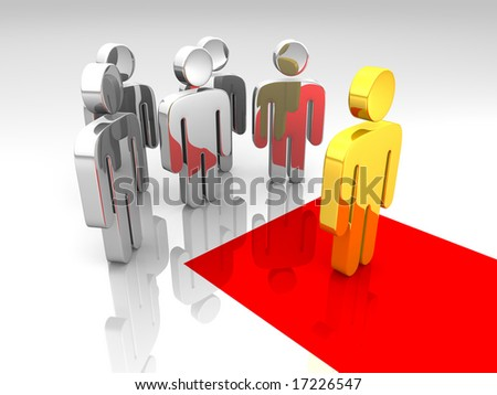 a group of pictograms in a red carpet concept - stock photo
