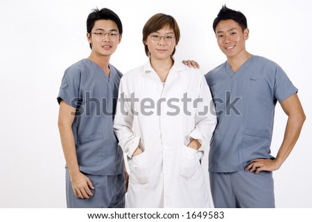 A group of three medical professionals