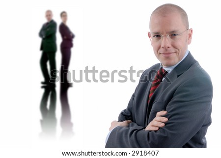 A group of young business people - stock photo