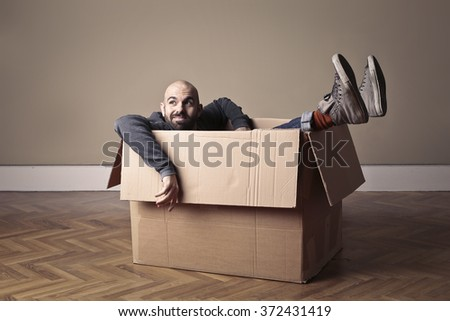 A grown-up child - stock photo