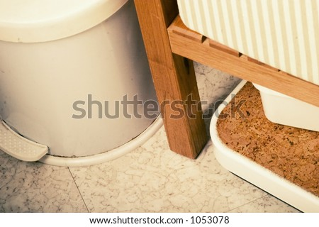 A grunge bathroom abstract - stock photo